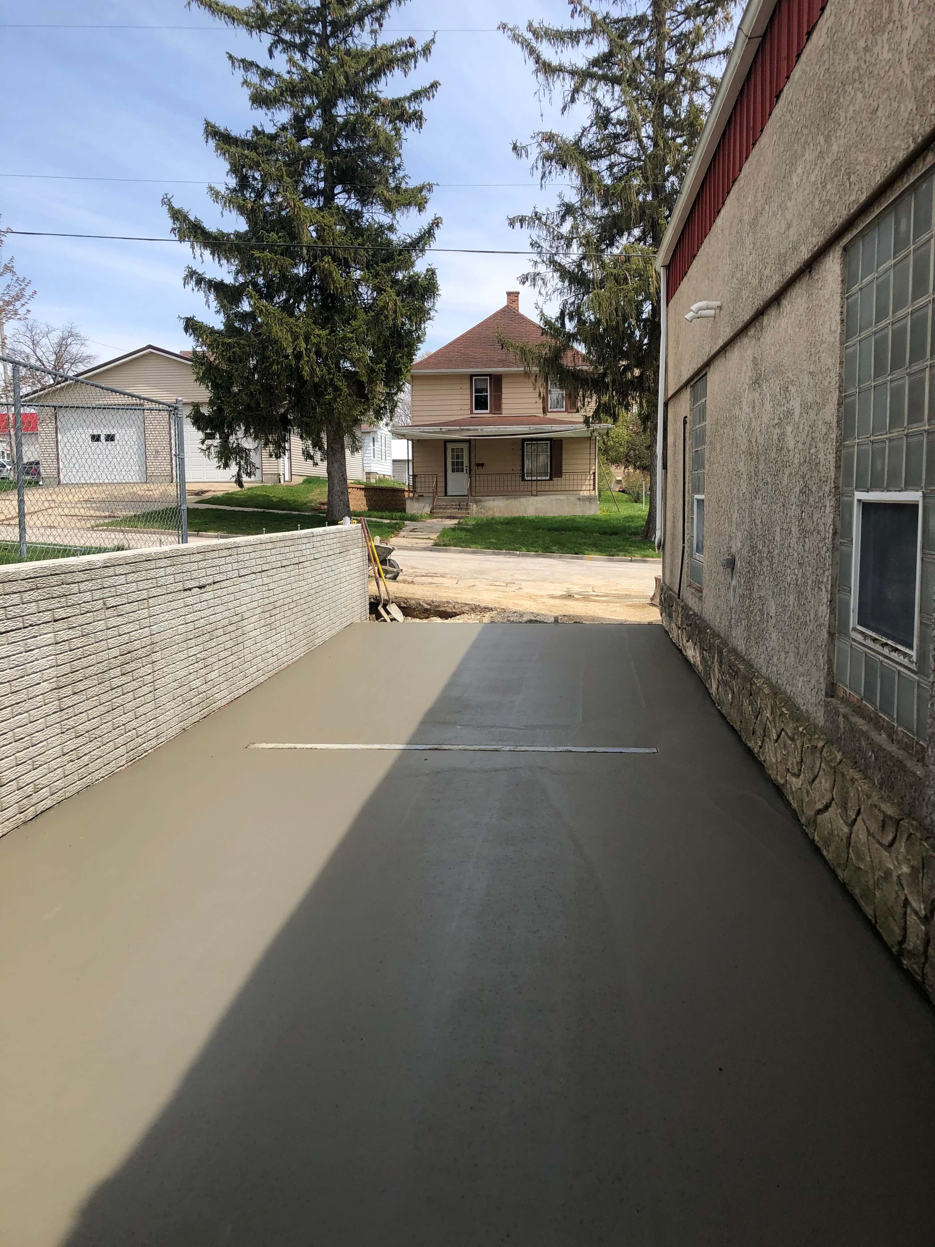 New Cement pour